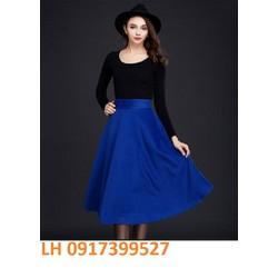 Chân váy xòe thời trang Châu Âu mới R161825-1