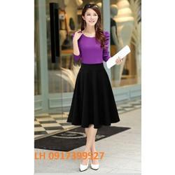 Chân váy xòe thời trang Hàn Quốc mới R16001825
