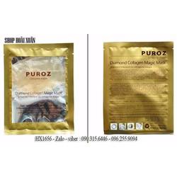 Combo 10 Mặt nạ Collagen trắng và tái tạo da cá hồi Puroz - HX1656