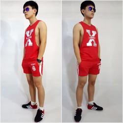 Bộ quần áo thể thao nam, set đồ gym chạy bộ cao cấp cho nam SG1005