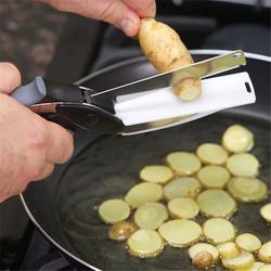 Kéo thông minh 3 trong 1 thay thế cho cả dao và thớt Clever Cutter