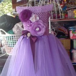 Đầm công chúa cổ thuyền cho bé
