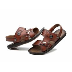 Dép sandal nam chất liệu da mềm thời trang 2016