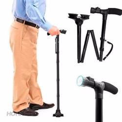 Gậy gấp gọn chống trơn trượt có đèn pin Trusty Cane