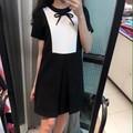 Đầm suông phối màu đơn giản cực đẹp Dress