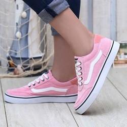 Giày thể thao nữ vans hồng 2016