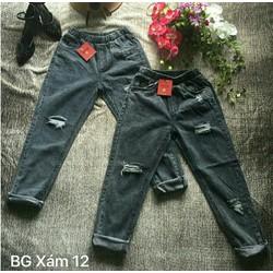 Quần Baggy Jeans Lưng Thun