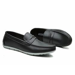 Giày da nam ecco thời trang công sở phong cách - màu đen