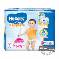 Tã-bỉm quần Huggies Dry XL62