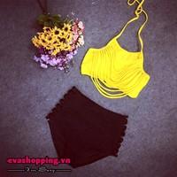 Bộ bikini cạp cao EvaBKN181