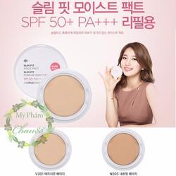 Phấn phủ nén The Face Shop Slim Fit Moist Pact SPF50 PA+++