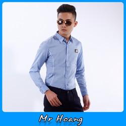 Sơ mi nam MR HOÀNG sang trọng đẳng cấp siêu fake CY207 XANH NHẠT