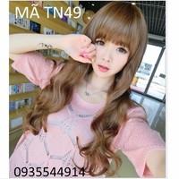 Tóc nữ mái ngố gợn sóng Hàn Quốc TN49