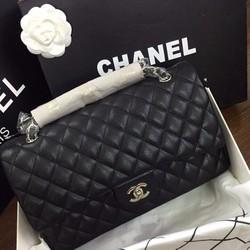 Chanel Classic hàng F1A khoá bạc