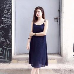 Đầm suông yếm 2 dây dập ly cực xinh