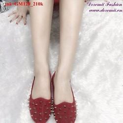 Giày mọi nữ đinh vàng nổi bật cá tính GM129