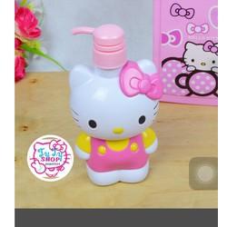 Bình nhấn chiết dầu gội sữa tắm hello kitty