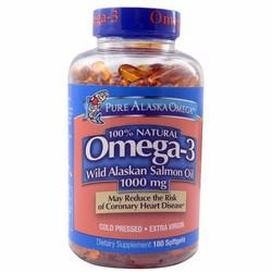Dầu cá hồi Pure Alaska Omega3 Wild Salmon Oil 1,000MG 180 viên của Mỹ