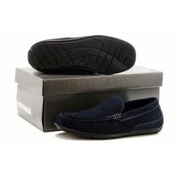Giày da lộn ecco công sở thời trang New 2016 - màu xanh đen