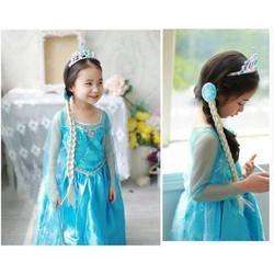 Váy đầm công chúa Elsa tay xanh