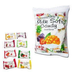 Kẹo Milk Soft Candy Mixed Flavour Thái Lan - 380g - 100v