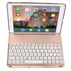Bàn phím Bluetooth iPad Air 2 iPad 6 keyboard tích hợp LED GOLD
