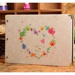 Album DIY gáy còng Love letter