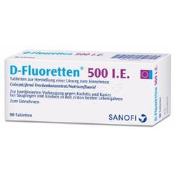 Vitamin chống còi xương vitamin D-Fluoretten 500 I.E.