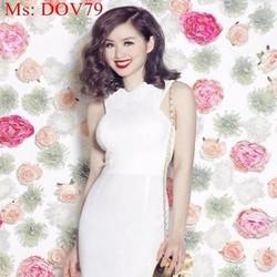 Đầm body dự tiệc sát nách màu trắng trẻ trung xinh đẹp DOV79