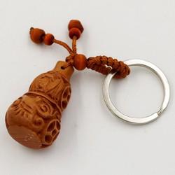 Móc chìa khóa hồ lô khắc tiền xu phong thủy
