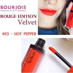Son Bourjois Rouge Velvet số 3 - Chính hãng chuẩn Pháp