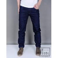 Quần Jeans xanh đậm chỉ xám