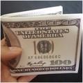 Ví nam in hình tiền 100$ - Có hộp