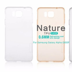 Ốp lưng dẻo Samsung Galaxy Alpha G850 hiệu Nillkin