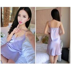 Váy ngủ phối ren mềm mịn