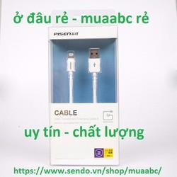 Cáp Sạc Iphone 5,6 Dài 3M Zin Pisen Chính Hãng