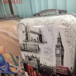 Vali kéo du lịch nhựa phong cảnh Anh quốc sành điệu VL213