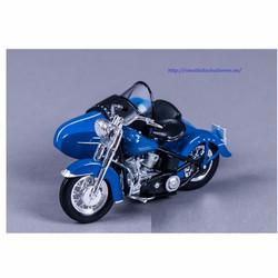 Xe mô hình mô tô HARLEY DAVIDSON 1952 FL HYDRA GLIDE 1:18 màu xanh