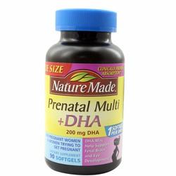 Thuốc bổ cho bà bầu Nature Made Prenatal Mutil DHA 90 viên