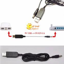 Cáp chuyển đổi điện áp từ cổng USB 5V sang 9V