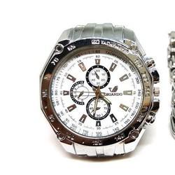 Mua đồng hồ tặng lắc tay inox nam cá tính