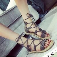 HÀNG NHẬP CAO CẤP - Giày sandal dây cột điệu đà
