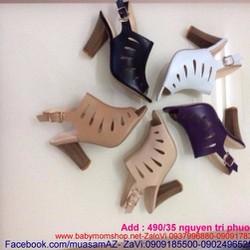 Giày cao gót hở mũi kiểu sandal khoét hông sành điệu GCN209