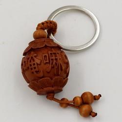 Móc chìa khóa lòng đèn khắc Phật chú