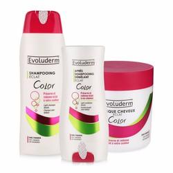 Bộ dầu gội, dầu xả và kem ủ dành cho tóc uốn nhuộm Evoluderm