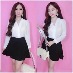 váy xoè ngắn Hàn Quốc