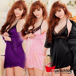 Váy ngủ kèm áo choàng DN006