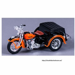 Xe mô hình mô tô HARLEY DAVIDSON 1947 SERVI-CAR tỷ lệ 1:18 Cam đen