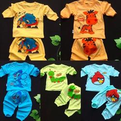 Set 5 Bộ áo quần tay dài đồ màu