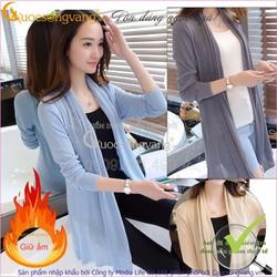 Áo khoác nhẹ len dệt kim GLA051